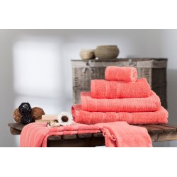 Handtuch aus 100% Baumwolle Korallenfarben