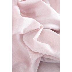 Rideau Effet Chiné 200 x 270 cm Grande Largeur et Grande Hauteur à Galon Fronceur Effet Lin Naturel Rose Blush