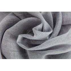 Voilage 140 x 280 cm à Oeillets  Effet Lin Grande Hauteur Uni Gris Granit