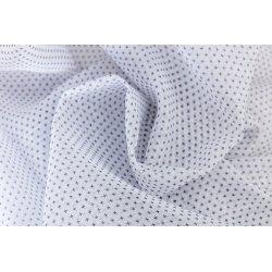 Voilage 140 x 260 cm à Oeillets Grande Hauteur Impression Motif Croix Noires Blanc