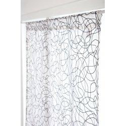 Vitrage 90 x 160 cm Passe Tringle Effet Naturel Griboullis Brodés Gris