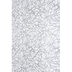 Vitrage 70 x 240 cm Passe Tringle Effet Naturel Griboullis Brodés Gris