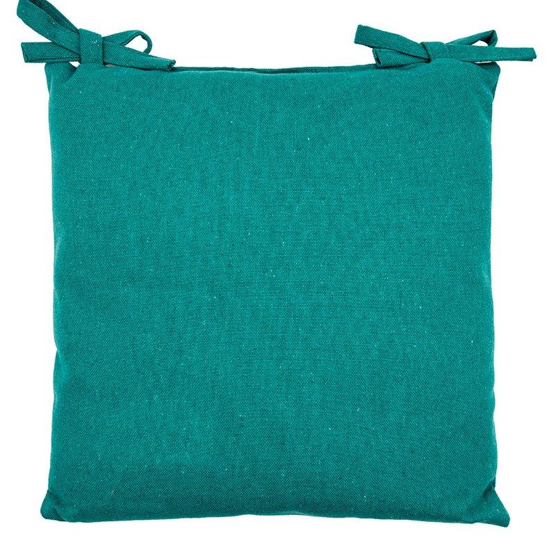 Galette de Chaise 100% Coton 40 x 40 x 3 cm Non Déhoussable Indoor Outdoor Vert Menthe
