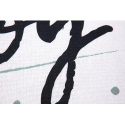 Housse de Coussin 100% Coton 40 x 40 cm Déhoussable Imprimé Joy Tacheté Vert et Noir