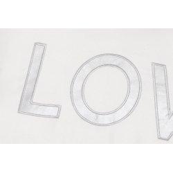 Coussin Velours Motif Mot Tissé Love