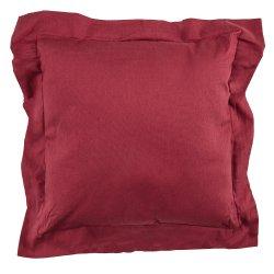 Housse de Coussin 40 x 40 cm Rouge Bordeaux