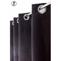 Rideau Occultant 140 x 240 cm à Oeillets Stop Froid Uni Noir
