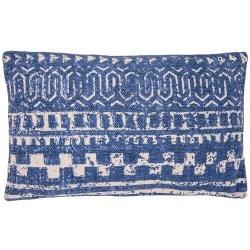 Housse de Coussin 30 x 50 cm Déhoussable Imprimé Motifs Ethniques Jaune Bleu