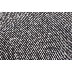 Housse de Coussin 40 x 40 cm Déhoussable Tramé Effet Bouclé Blanc Noir