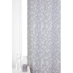 Rideau Tamisant 100% Coton 140 x 260 cm à Oeillets Imprimé Motifs Géométriques Gris