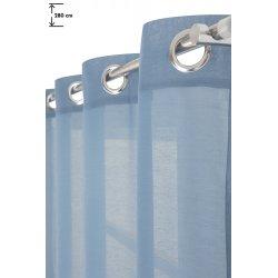 Voilage 140 x 280 cm à Oeillets Effet Coton Uni Bleu