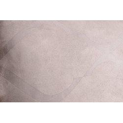 Housse de Coussin 40 x 40 cm Déhoussable Suédine Estampillée Ton sur Ton Motif Croisillons Gris