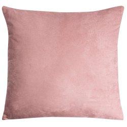 Housse de Coussin 45 x 45 cm Déhoussable Effet Alcantara Uni Rose