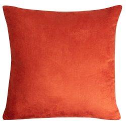 Housse de Coussin 45 x 45 cm Déhoussable Effet Alcantara Uni Orange