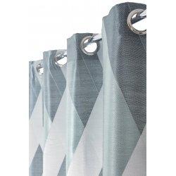 Rideau 140 x 240 cm à Oeillets Formes Géométriques Bleu Nordique