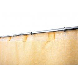 Rideau Effet Chiné 200 x 270 cm Grande Largeur et Grande Hauteur à Galon Fronceur Effet Lin Naturel Jaune Yuzu