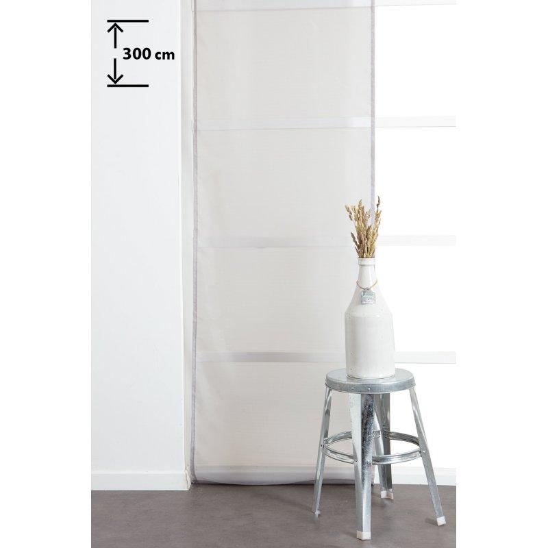 panneau japonnais 60 x 300 cm a scratch grande hauteur effet lisse uni gris