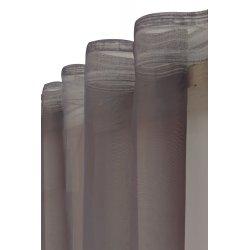 Voilage 140 x 260 cm à galon fronceur imprimé placé Tour Eiffel noir blanc