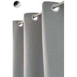 Rideau occultant 135 x 180 cm à oeillets uni gris moyen