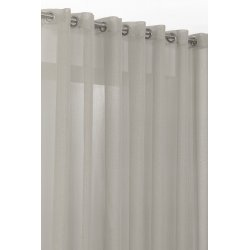 Vorhang Gardine lang feine gewebte Linien Ösen Beige