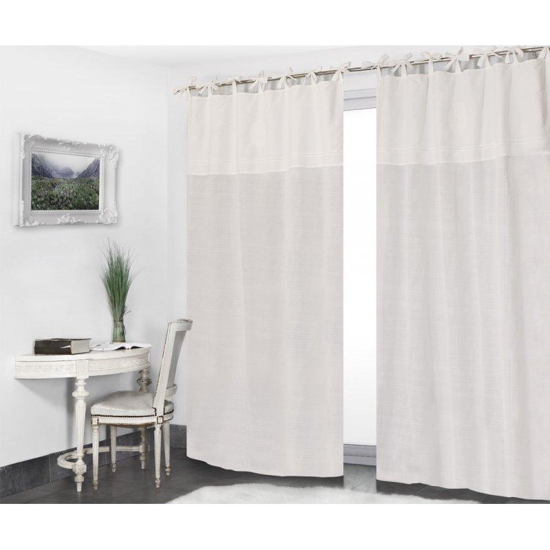 Gardine mit Bindebändern 140 x 280 cm für Hohe Fenster mit