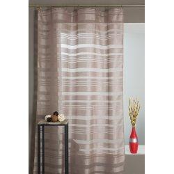 gardine f r hohe fenster 140 x 270 mit kr uselband gestreift decoboutique. Black Bedroom Furniture Sets. Home Design Ideas